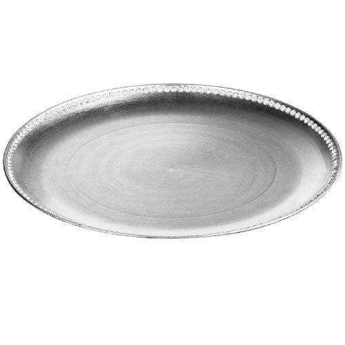Brand NEW Set Of 2 33cm Coupe Diamante Edge Radiance Charger Plate Silver