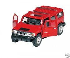 Hummer H2 TOUS-TERRAINS rouge 2008 1:40 Maquette de voiture