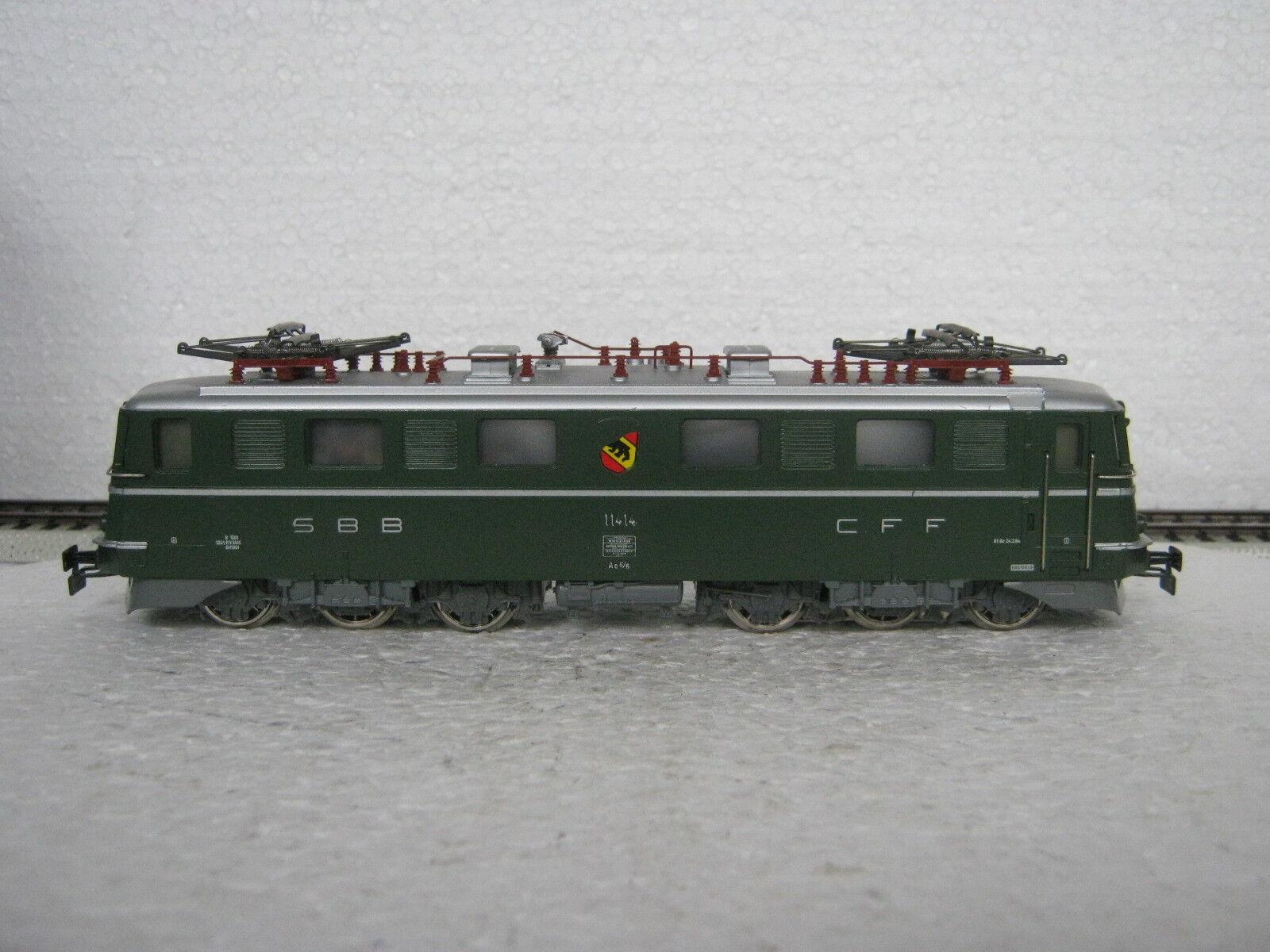HO/AC 3050 e Lok AE 6/6 BR 11414 SBB  co/18-56r7/14