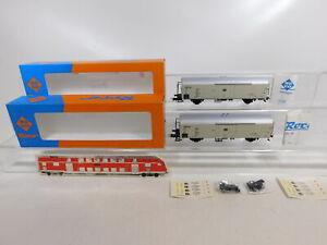 CE916-0-5-2x-Roco-H0-DC-44310A-Gueterwagen-Kuehlwagen-Interfrigo-DB-NEM-NEUW-OVP