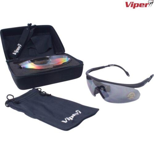 VIPER Tactical Lunettes /& Case X4 lentilles Shooting Tactical Lunettes De Soleil De Sport
