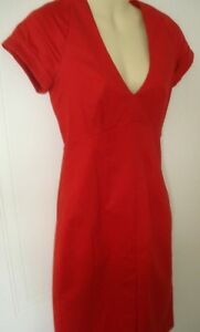New Dress Red 6 Eu Connection 34 French Women's Neckline Scarlet 2 Uk Plunge Us gYOcxqF
