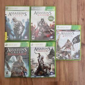 Assassin's Creed Bundle Lot Microsoft Xbox 360 5 Games