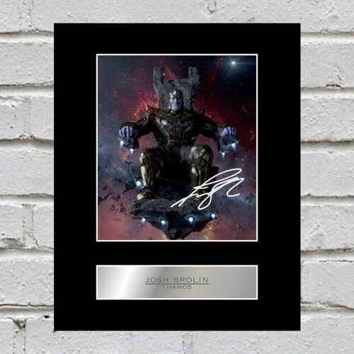 Thanos Signed Mounted Photo Display Avengers Infinity War Josh Brolin