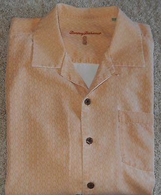 Tommy Bahama Shirt Silk Men's Gold Apricot color Large