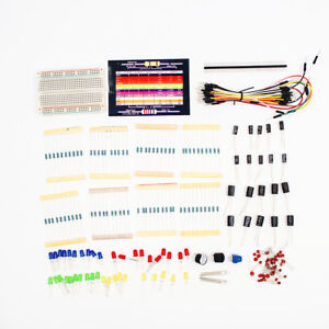 Electronic-Starter-Kit-for-Arduino-Resistor-Buzzer-Breadboard-LED-Dupont-cable