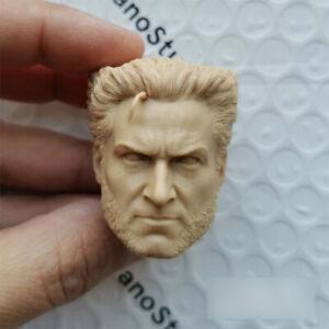 1//6 Logan X-Men Wolverine Hugh Jackman Head Carving Model for 1//6 Action Figure
