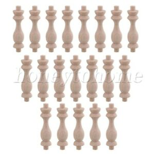 20pieces 75x18mm Beech Wood Craft Spindles H 83 Type For