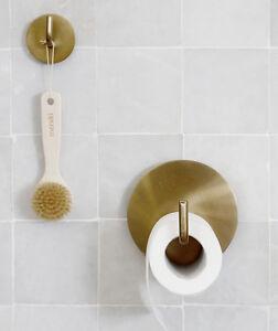 House Doctor Toilettenpapierhalter 2 Haken Farbe Gold Messing Wc Bad