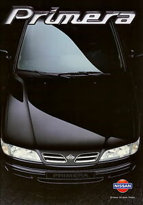 Nissan-Primera-Prospekt-1997-Autoprospekt-9-97-Auto-Broschuere-brochure-brosjyre
