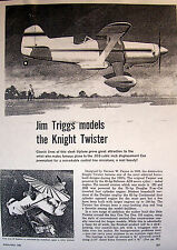 """Vintage KNIGHT TWISTER 10"""" & 20"""" UC Model Airplane Two PLANS + Magazine Article"""
