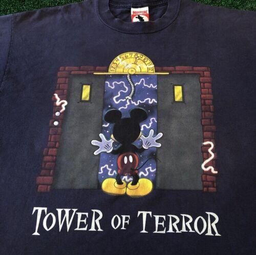 VTG 90s Disney Tower Of Terror Ride Promo Rare Vin