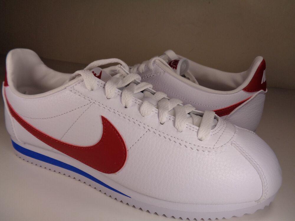 Nike Classic Cortez BLANC Leather OG Forrest Gump BLANC Cortez Red Bleu Homme  Chaussures de sport pour hommes et femmes f0dcaa