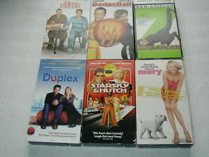 BEN-STILLER-6-PACK-VHS-MOVIE-LOT-RARE-OOP-HTF