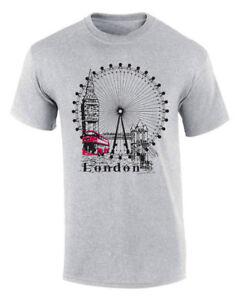 LONDON-WHEEL-Pullover-T-SHIRT-Souvenir-Gift-Tshirt-Tee-Best-Quality