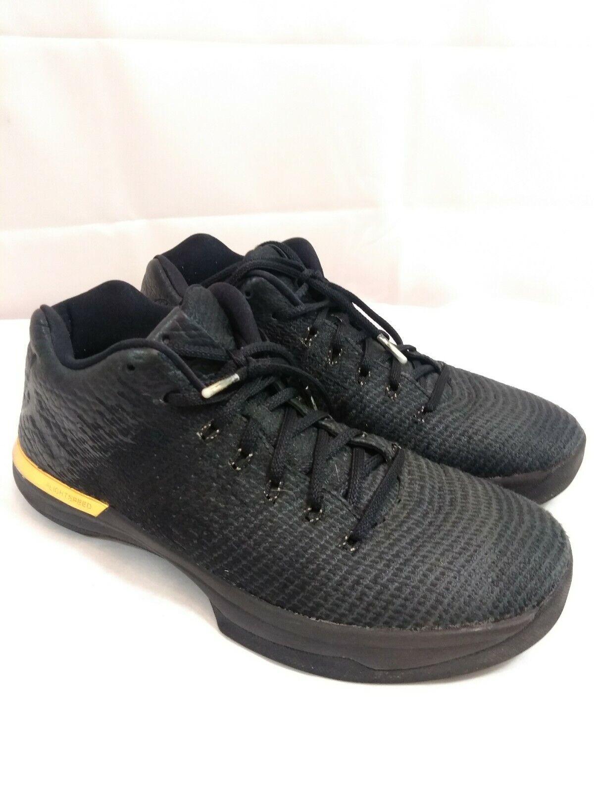 low priced 38cfe 4c894 Nike Air Jordan XXXI 31 Low Men's Basketball Black Gold Shoes 897564 023 SZ  10