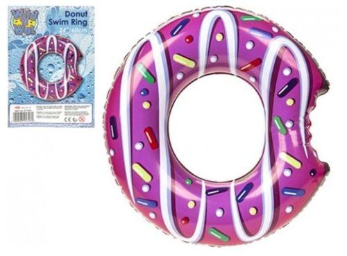 Gonflable Swim Ring Donut Design Safe Water Equipment Fun Radeau Flotteur Piscine UK