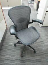 Herman Miller Aeron Mesh Desk Chair Medium Size B Fully Adjustable Tux With Lumbar