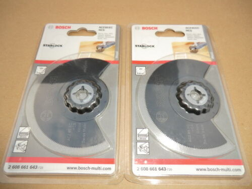 2 X BOSCH 85MM WOOD SAW BLADE FOR PMF MULTI TOOLS 2608661643
