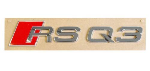 Audi RS Q3 TRUNK BADGE RSQ3 Quattro Front Side Sticker Metal Fender Emblem