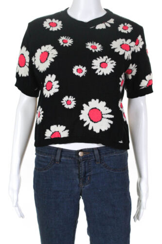 Molly Goddard Womens Short Sleeve Boat Neck Floral