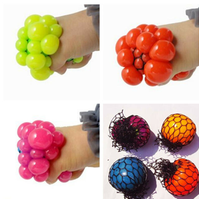 Hot Anti Stress Face Reliever Grape Ball Autism Mood Squeeze Relief ADHD Toy