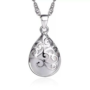 Image is loading Moonlight-Opal-925-Sterling-Silver-Pendant-Necklace-Chain- 59f89769d