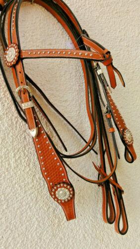 gr. Western Mors Cheval rênes westernzaum Mors Cheval splitreins showzaum * NOUVEAU * Div