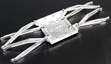 AXIAL WRAITH All Metal SKID PLATE + Front & Rear ALUMINUM METAL TRAILING ARMS