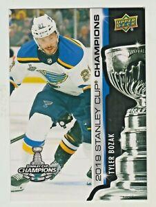 2018-19-Upper-Deck-2019-STANLEY-CUP-CHAMPIONS-BLUES-SET-5-TYLER-BOZAK-RARE