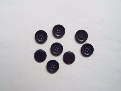 8pc 20 mm Azul Marino Niños Cardigan de punto pantalones 4 agujero botón 1479