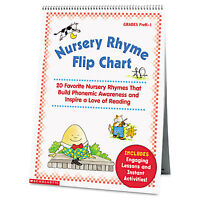 Scholastic Nursery Rhyme Flip Chart Grades Prek-1 20 Pages 0439513820 on sale