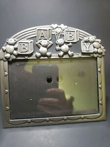 Baby picture frames Metal with Bears