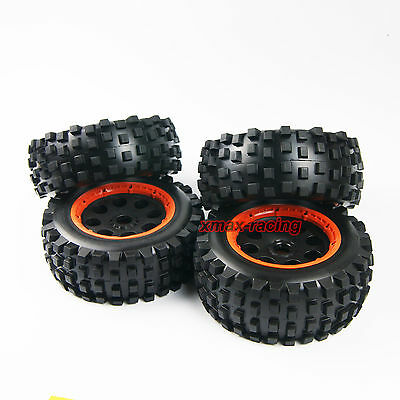 KM T1000 Front and Rear Knobby desert Wheel and Tire fit HPI Rovan Baja 5T 5SC