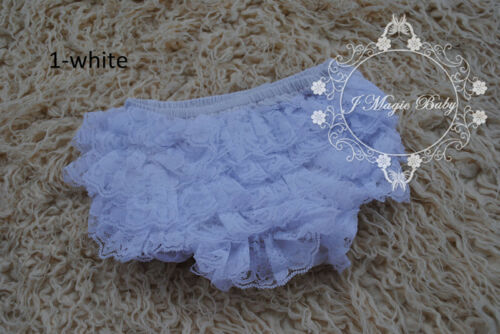 Baby Girls Newborn Lace Ruffle Bloomers Pant Nappy Cover Floral Photo Prop