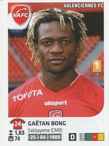 GAETAN BONG # CAMEROON VALENCIENNES.FC CARD PANINI ADRENALYN 2012