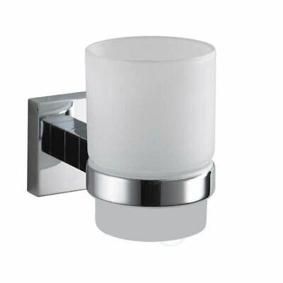 Haceka Kosmos Chrome 2er Zahnbecher mit Halterung verchromt Doppelglashalter