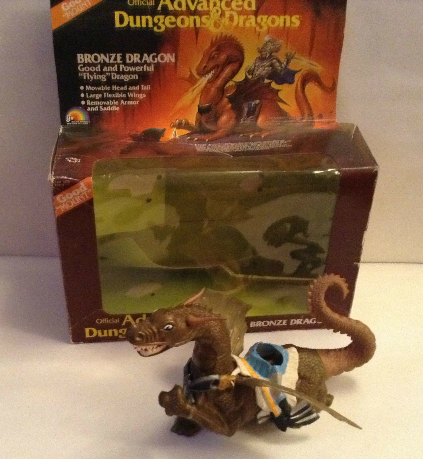 Bronzo Dragon Advanced Dungeons and Dragons ACTION FIGURES LJN 1983 in scatola ADV