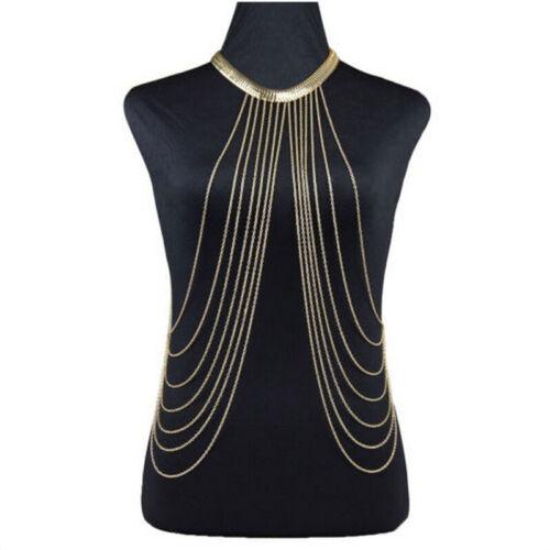 Chaîne de corps de charme colliers gland alliage Long collier bijoux mode fém  I