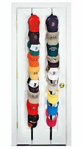 Caprack 18 Baseball Cap Holder Black Organizer Hat Storage Rack Space