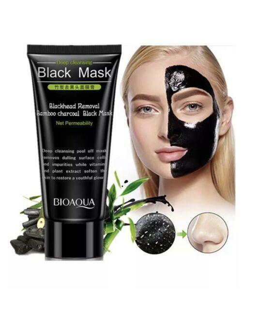 Blackhead Removal Charcoal Peel off Black Face Mask Deep Cleansing ...