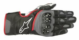 GUANTI-MOTO-ALPINESTARS-GLOVES-SP-2-V2-BLACK-GRAY-RED-FLUO-PROTEZIONI-CE