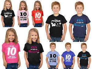 10 Geburtstag Kinder T Shirt Sprüche 10 Jahre Kindershirt