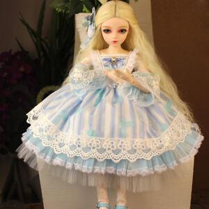 "BJD Doll Hair Wig 8-9""1/3 SD DZ DOD Rhapsody fluffy long light blonde hair wig"