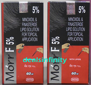 Pack-2-x-New-Morr-F-5-Hair-Regrowth-FDA-Approved-DHT-Blocker-60-ml-Free-Ship