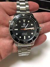 Deep Blue Master 1000 Black Dial Bracelet Dive Watch 44mm Original Rubber Strap