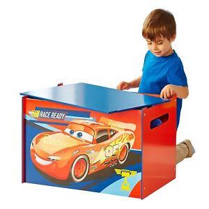 Image Is Loading DISNEY CARS STORAGE TOY BOX CHILDRENS FURNITURE LIGHTNING