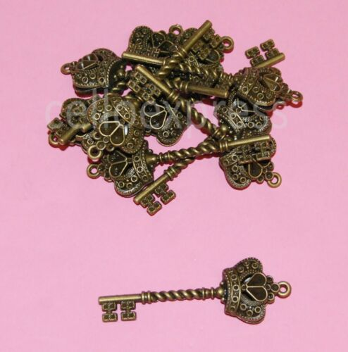 Steampunk Keys Vintage Santa Charms Parts Findings Choice of Colour /& Qty