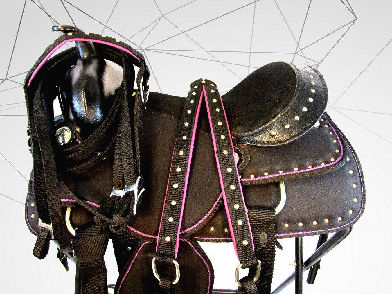 15 16  Plata Show Rodeo placer Bling Con Tachas silla de montar silla de montar caballo  marca de lujo