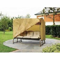 Weatherproof Outdoor 3 Seater Hammock Swing Glider W/ Canopy Cover 87x64x66